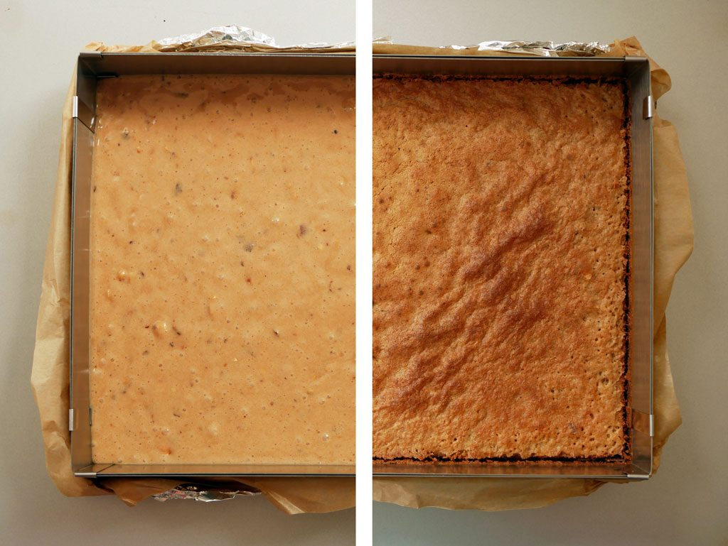 לפני ואחרי אפייה - ביסקוויט עבור טארטלט פררו רושה