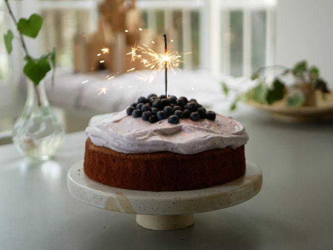 עוגת שיפון אוכמניות