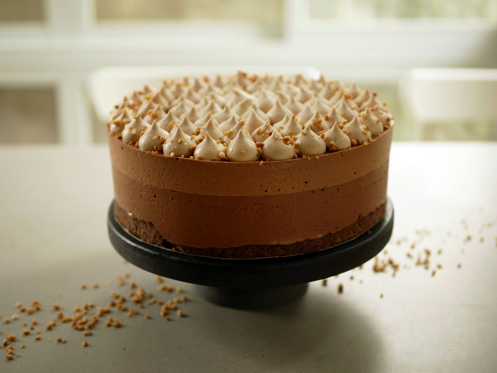 Gianduja Chocolate Mousse Cake