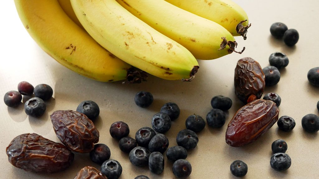 Bananas, blueberries and dates