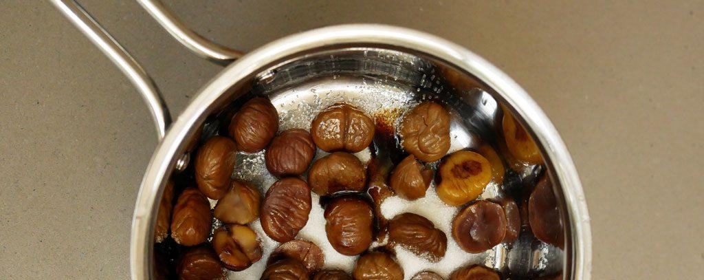 Making chestnut puree