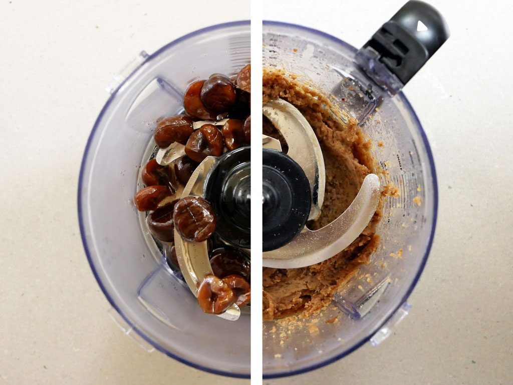 Grinding chestnuts