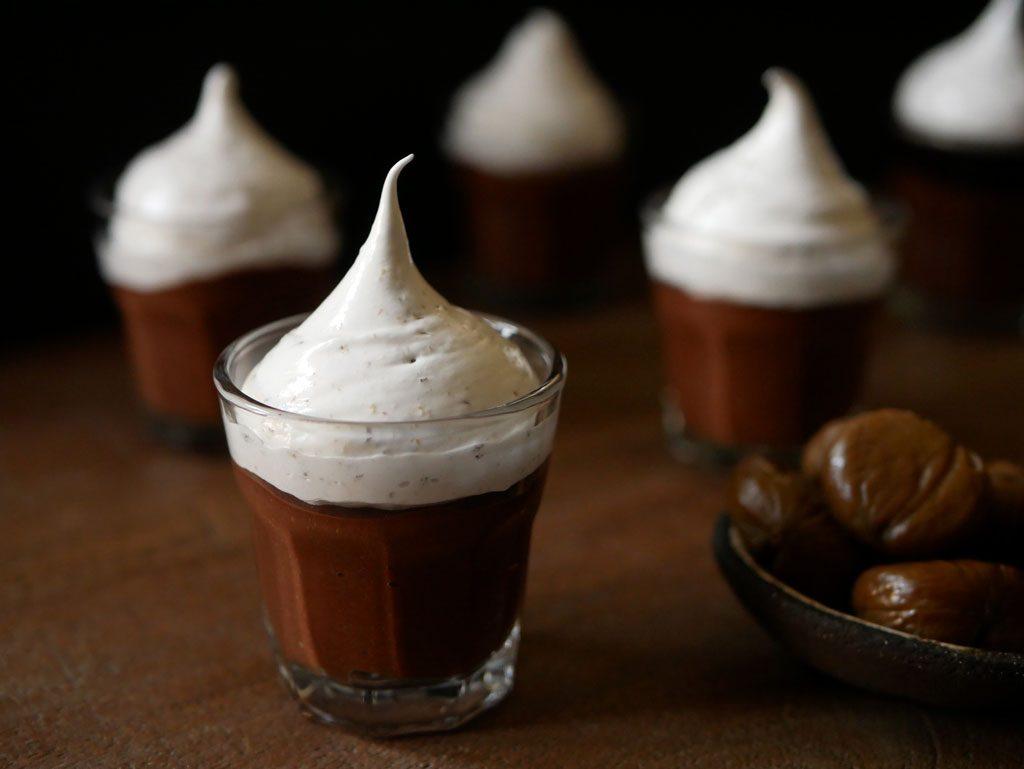 פוט דה קרם ערמונים ושוקולד