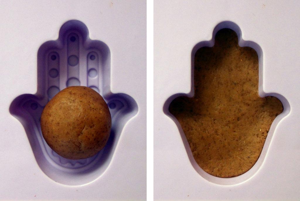 Shaping gingerbread dough