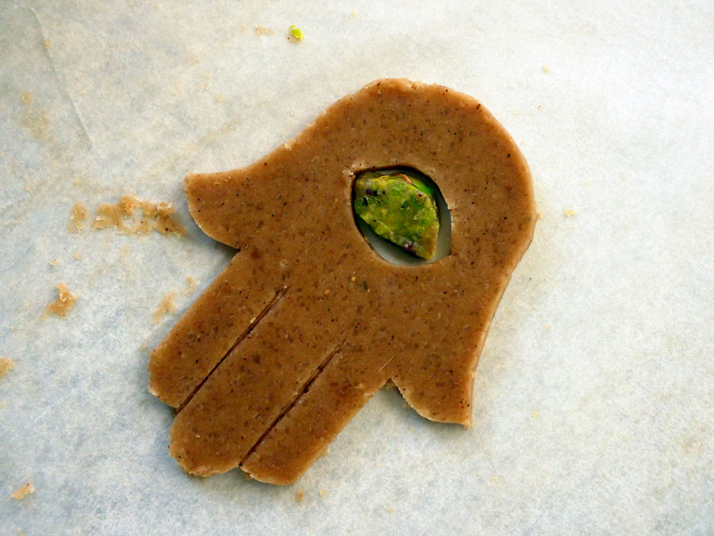 Gingerbread cookie before baking