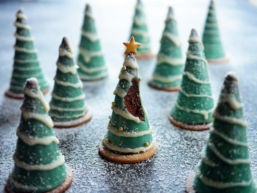 עץ חג המולד ממוס שוקולד