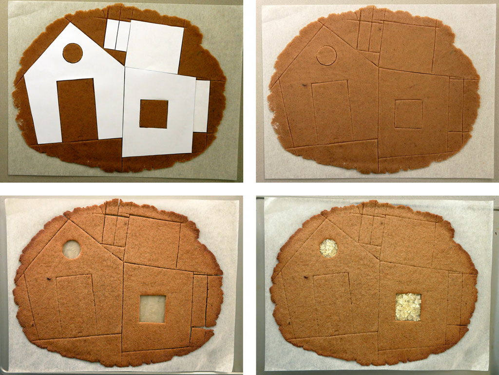 חתוך חלקי הבית מג'ינג'רברד