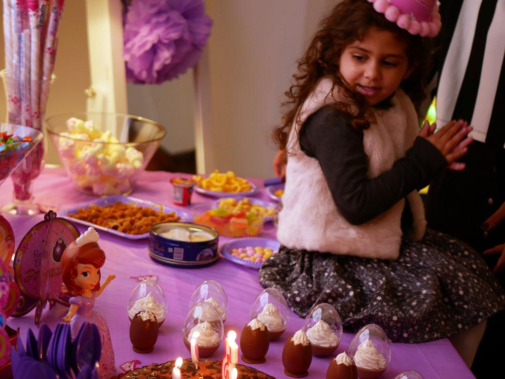 Nadine celebrating her 3rd birthday