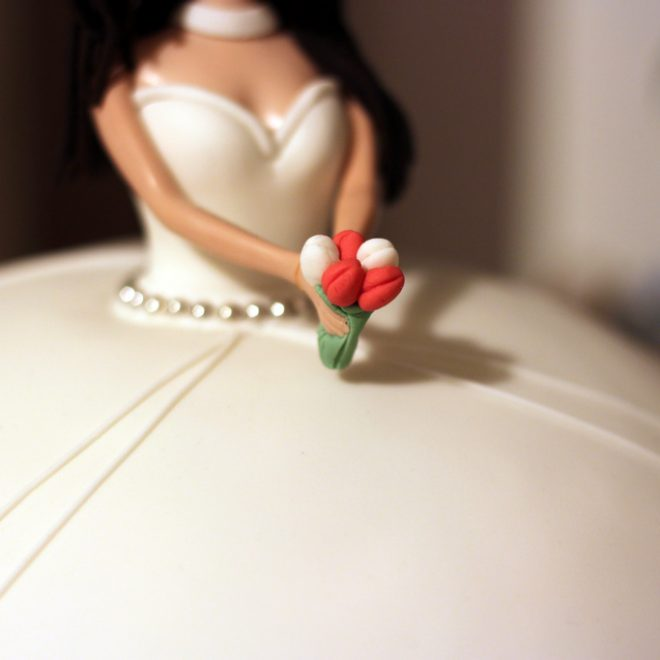 A bride from fondant