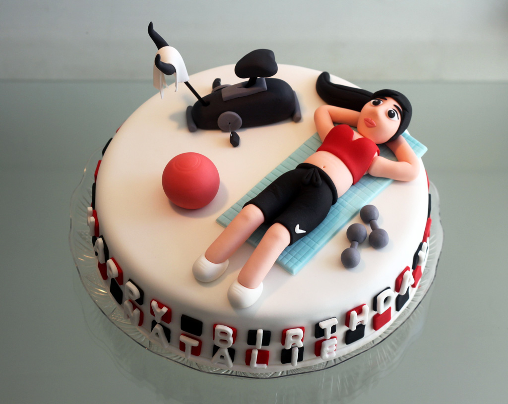 Fitness instructor cake