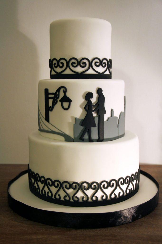 Tia & Maor's wedding cake