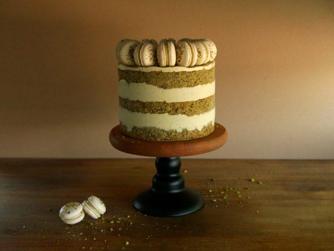 עוגת פיסטוק ודובדבני אמרנה