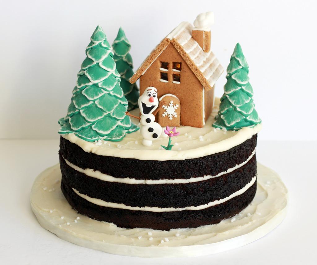 Olaf's gingerbread house