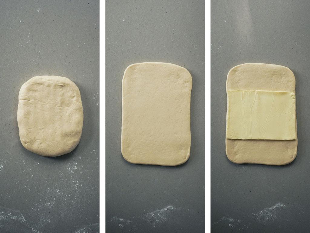 שילוב הדטרומפ עם החמאה לקיפול