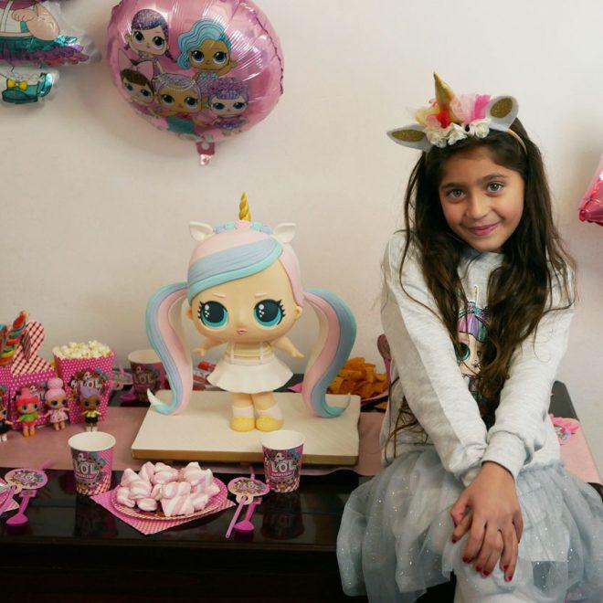 Yasmine and her LOL doll