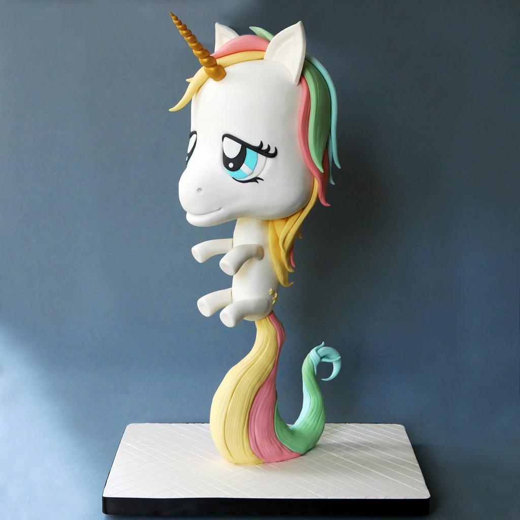 A Chibi unicorn cake